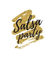 Salsa party logotype vector