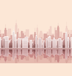seamless cityscape with skyscrapers vector image