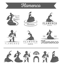Set of badges Flamenco vector