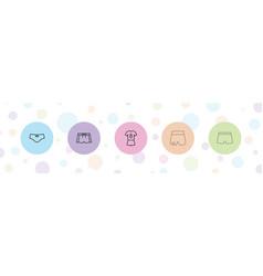 Shorts icons vector