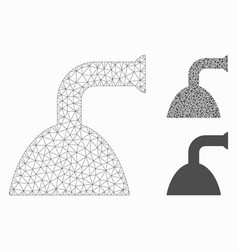shower jet mesh 2d model and triangle vector image