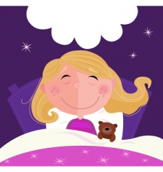 sleeping and dreaming vector image