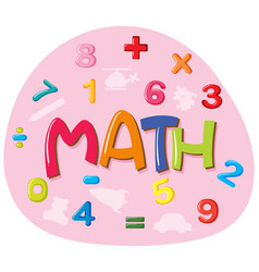 Sticker design for word math vector