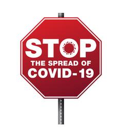 Stop spread covid-19 vector