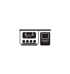 subway black concept icon subway flat vector image