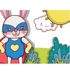 superhero animal cartoon vector image