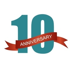 Ten 10 Years Anniversary Label Sign for your Date vector image