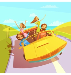 Traveling Friends vector