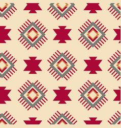 Tribal southwestern native american navajo pattern vector