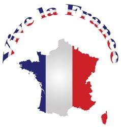 Vive la France vector