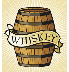 whiskey label vector image