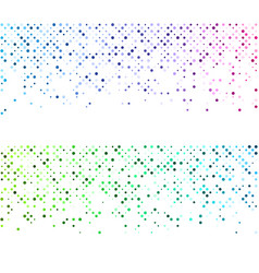 white backgrounds with colorful dotted pattern vector image