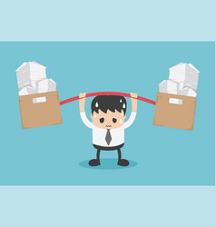 young businessman lot work worry vector image