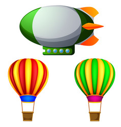 a set of hot air balloons vector image