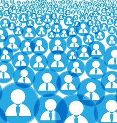 Abstract crowd vector image