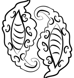 Abstract monochromatic ornament2 vector image vector image