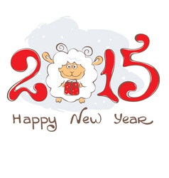 Background - Year of the Sheep vector image