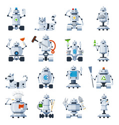 home robots set vector image vector image