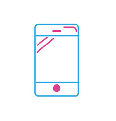 line smartphone technology to call and talk the vector image vector image
