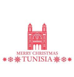 Merry christmas tunisia vector