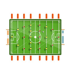 table football flat design isolated on white vector image vector image