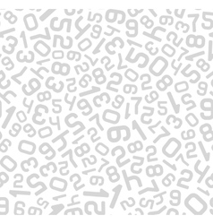 Abstract Background with Numbers Seamless vector image vector image