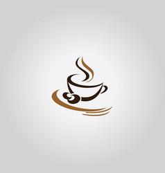 coffee cafe symbol logo vector image