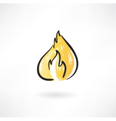 Fire grunge icon vector image