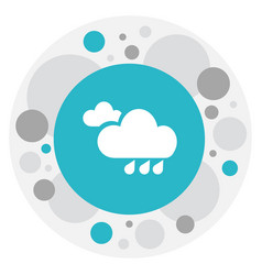 Of weather symbol on flood vector