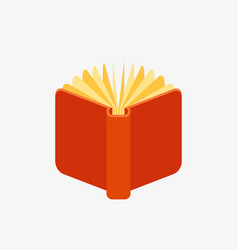 red open book icon vector image