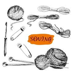 Sewing Set of vector image