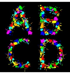 Alphabet color drop abcd vector image vector image