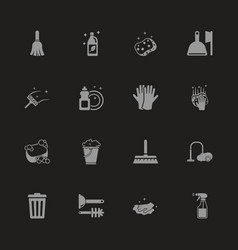 cleaning - flat icons vector image