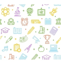 School Background Pattern vector image