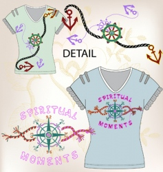 shirt design vector image vector image