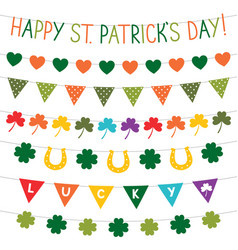 st patricks day banners set vector image vector image