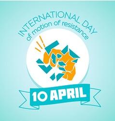 10 April International day vector image