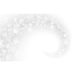 3d swirling snow effect vector image