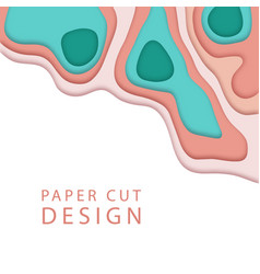 abstract background in paper art style banner vector image