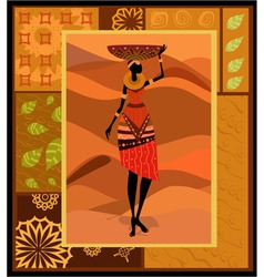 african woman ornament vector image