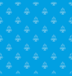 air energy pattern seamless blue vector image