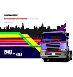al 0549 truck 01 vector image
