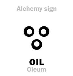 Alchemy oil oleum vector