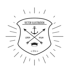 Anchor and arrow icon Hipster Style design vector