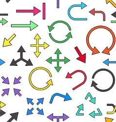 Arrows colorful pattern icons vector