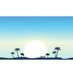art of beach landscape silhouette vector image vector image
