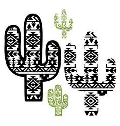aztec cactus graphic printable boho vector image