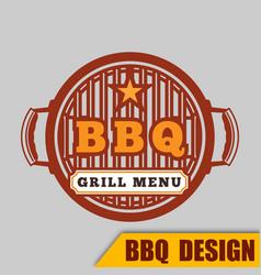 Bbq grill menu image vector