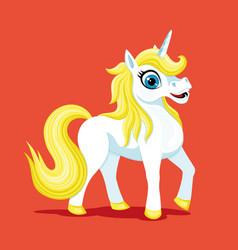 beautiful cute unicorn vector image