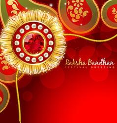 Beautiful rakhi background vector